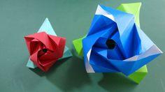 """びっくり!!「変形するバラ」折り紙Surprise!! """"Rose changing"""" origami"""