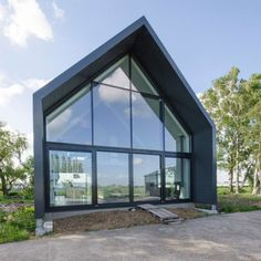 houses : Lofthome UK Ltd A Frame House Plans, Dream House Plans, Steel Frame House, Steel House, Bungalow Extensions, Self Build Houses, Modern Barn House, Contemporary Barn, Prefabricated Houses