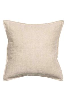 Funda de cojín en lino: ALTA CALIDAD. Funda de cojín en tejido de lino lavado. Cremallera oculta.
