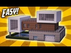 Minecraft: How To Build A Modern Mansion House Tutorial ( In this Minecraft build tutorial I show you how to make a modern mansion that has many awesome . Minecraft Mods, Minecraft House Plans, Minecraft Houses Survival, Cute Minecraft Houses, Minecraft Houses Blueprints, Minecraft City, Minecraft House Designs, Amazing Minecraft, Minecraft Construction