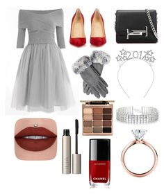 """""""HAPPY NEW YEAR"""" by gutierrez-rita ❤ liked on Polyvore featuring Christian Louboutin, Tod's, Red Herring, Tiffany & Co., Ilia, Stila and Chanel"""