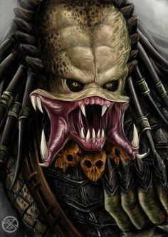 wolf predator by legowosnake on DeviantArt Predator Tattoo, Wolf Predator, Predator Alien, Predator Costume, Robot Concept Art, Alien Art, Classic Monsters, Art Station, Science Fiction Art