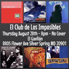Noche Tributo: El Club de Los Imposibles! Con música de Bunbury/Heroes del Silencio/Caifanes/Jaguares/Cerati/Soda Stereo!