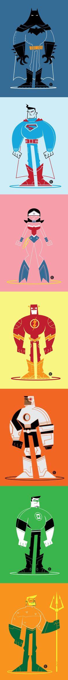 Justice League of America - Vector Art