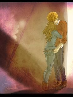 I need you now by ~sharadaprincess. Taking this as a headcanon of them after the war. Like Hermione just suddenly remembering of her parents after seeing Mr and Mrs Weasley with all of them.>>hermione and ron Harry Potter Couples, Arte Do Harry Potter, Harry Potter Ships, Harry Potter Drawings, Harry Potter Images, Harry James Potter, Harry Potter Facts, Harry Potter World, Fred And Hermione