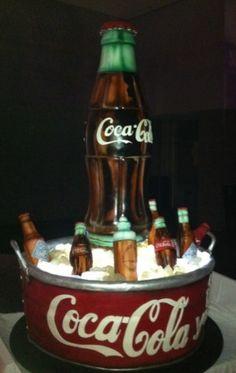 Coca Cola Cake by Amazing cakes by Karen Portaleo of the Highland Bakery, Atlanta, Georgia Coke Cake, Coca Cola Cake, Crazy Cakes, Fancy Cakes, Unique Cakes, Creative Cakes, Always Coca Cola, Cake Creations, Cupcake Cookies