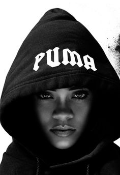 the shadow of the hood puts a spotlight on the incredible facial shaping and features.  U may have too much hair for this