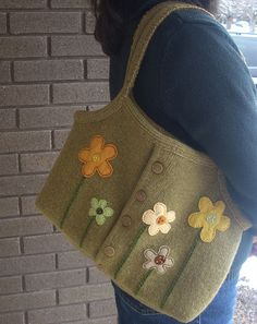 Felted Wool Bag/Purse by bca_bethmo, via Flickr