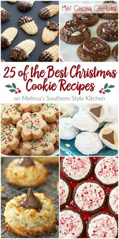 25 of the Best Christmas Cookie Recipes for your holiday baking. - - 25 of the Best Christmas Cookie Recipes for your holiday baking. Christmas Cookie Exchange, Best Christmas Cookies, Xmas Cookies, Christmas Sweets, Christmas Cooking, Christmas Cupcakes, Christmas Candy, Summer Cookies, Baby Cookies