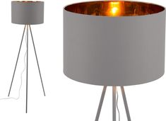 Tris Floor Lamp, Matt Grey and Copper from Made.com. Express delivery. Don't you love it when statement pieces are great value too? That's what we'v..