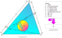 Geometry Problem 965: Triangle, Cevians, Midpoint, Circumcircle, Circle, Tangent Line, Metric Relations. Level: School, College, Mathematics Education.