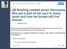 "Then there is this earth-shattering theory of the books. 21 Times ""Harry Potter"" Was The Cleverest Book Series Ever Harry Potter World, Harry Potter Universe, Harry Potter Stories, Harry Potter Jokes, Harry Potter Fandom, Funny Harry Potter Pics, Headcanon Harry Potter, Harry Potter Tumblr Posts, Johnlock"
