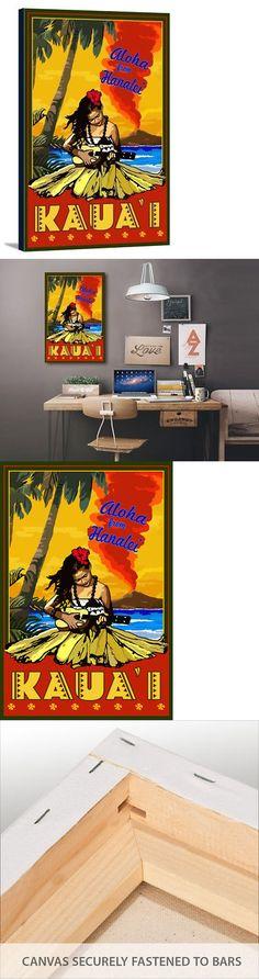 Reusable Eco Bags 169302: Kauai Aloha From Hanalei Hula Ukulele - Lp Artwork (24X36 Stretch Canvas) -> BUY IT NOW ONLY: $99.99 on eBay!