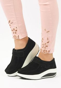 Mocasini piele naturala Justina 2 Negri Wedges, Sneakers, Shoes, Fashion, Tennis, Moda, Slippers, Zapatos, Shoes Outlet