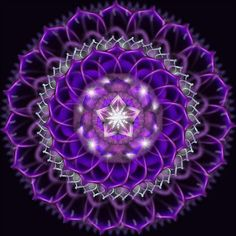 Hermoso mandala violeta :)