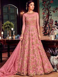 Designer sarees ,indian sari ,bollywood saris and lehenga choli sets. punjabi suits patiala salwars sets bridal lehenga and sarees. Indian Gowns Dresses, Pakistani Dresses, Bridal Dresses, Indian Anarkali, Bridal Anarkali Suits, Pakistani Gharara, Net Dresses, Latest Anarkali Suits, Flapper Dresses