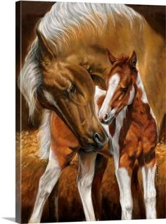 Victoria Wilson Schultz Premium Thick-Wrap Canvas Wall Art Print entitled A Mothers Touch II, None