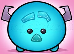 how to draw tsum tsum sulley