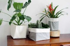 DIY pot plant bags l DIY fabric pot plant covers l 5 Must Try DIYs for the Home l STYLE CURATOR