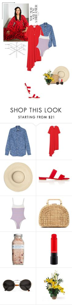 """""""Sometimes I call it the best day of my life."""" by luxecouture ❤ liked on Polyvore featuring Nobis, MANGO, Maison Margiela, Barneys New York, Kayu, Farmaesthetics, Prada, Nearly Natural and Michael Kors"""