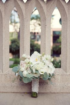 Darling white bridal bouquet. Photo by Sarah Kate, Photographer. #wedding #bouquet #white