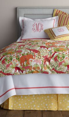 Stripes & spots & safari animals? oh my. love this for a girl's room