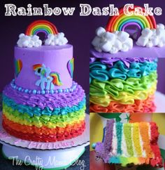 My Little Pony Cakes, Part One: Rainbow Dash   :) Crafty Mama: