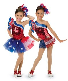 17597 - American Pride All-in-One Leotard with 17597F Fringe Skirt, 17597T Tutu by A Wish Come True