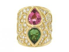 Marina B Tourmaline and Diamond Ring in 18K