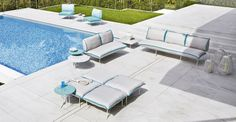 Colorado design lo scalzo moscheri Collection in powder coated Steel #design #hotelfurniture #contractfurniture #outdoordesign #outdoorfurniture #furniture #pool #sun #colours