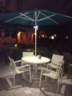 A perfect sitting area at Lago Mar Resort to enjoy the beautiful Florida weather