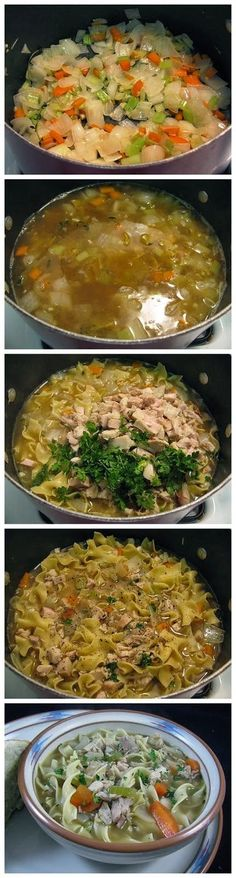Easy Classic Turkey Noodle Soup ~ Don't Eat Them All