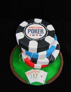 Poker Chips Cake Cake by KiwiEatCake