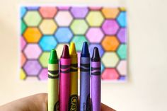 #Free #Printable Honeycomb #Coloring Sheet and an ode to #crayons on the #blog today. Enjoy! X