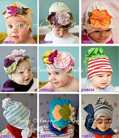 Wholesale Children's Caps & Hats - Buy 27 Style Baby New Flowers Knitted Cap Kid's Beanie Children Pop Cotton Headdress Flower Hat HOT SELL, $3.26 | DHgate