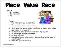 I Have, Who Has? Place Value Game 0-999 2nd and 3rd Grade- | Math ...
