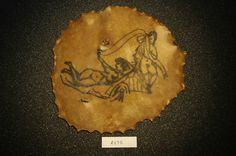 19th c. panel of tattooed skin from the Wellcome Collection in London