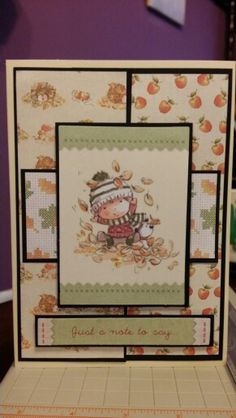 tilly daydream by docrafts terry card ideas - Google Search Card Patterns, Fall Cards, Daydream, Cardmaking, Embellishments, Little Girls, Paper Crafts, Scrapbook, Tags