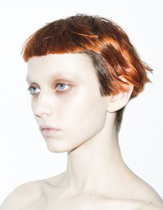 oh to be able to wear my hair just like this! AND make-up.