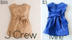 girls dress tutorial jcrew knock-off , cool. Maybe I'll give it a try.