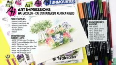 Art Impressions Blog: NEW VIDEO - Cat Watercolor Container with Kendra Krebs