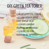 DIY Green Tea Face Toner Recipe - Real Beauty - Mother Earth Living - Hydrate s .DIY Green Tea Face Toner Recipe - Real Beauty - Mother Earth Living - Hydrate skin while battling breakouts Homemade Skin Care, Diy Skin Care, Homemade Beauty, Homemade Facials, Homemade Face Toner, Homemade Face Moisturizer, Homemade Shampoo, Green Tea Toner, Green Tea Face