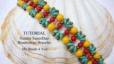 PDF Beading Pattern Beadwork Bracelet Pattern Beadweaving TutorialPatternSeed Bead TutorialPDF Superduo Schemi Beading Instructions (7.00 USD) by mybeads4you