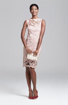 Just totally crushing on this light pink lace dress - perfect for summer parties! @nordstrom #nordstrom