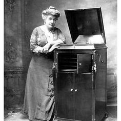 Woman and a Victrola