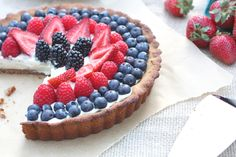 Berry Tart with Dairy-Free Vanilla Bean Custard - Against All Grain