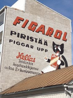 Suomi even has anthro art! Lappland, Shopping Street, Old Ads, Nature Animals, Helsinki, Art Decor, Street Art, Nostalgia, Neon Signs