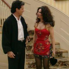 Fran en Todd Oldham de primavera 1995 con un bolso Moschino en forma de corazón.