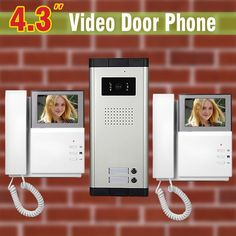 "158.88$  Watch here - http://ali3xo.worldwells.pw/go.php?t=32617729870 - ""4.3"""" LCD 2 Apartment Video Door Phone Intercom Video Landline System For Apartments Doorphone Intercom"" 158.88$"