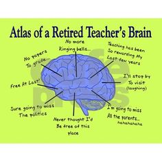 Retired Teachers Brain Cards Greeting Card Atlas Of. Greeting Card by Gigi - CafePress Teacher Retirement, Retirement Cards, Custom Cards, Custom Greeting Cards, Easy Funny Halloween Costumes, Me Time, Birthday Wishes, Note Cards, Card Making